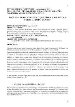 DEVOCIONAL I - fevereiro de 2010 – ANO DA MULTIPLICAÇÃO