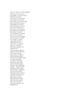 Geni e o zepelim, de Chico Buarque De tudo que é nego torto Do