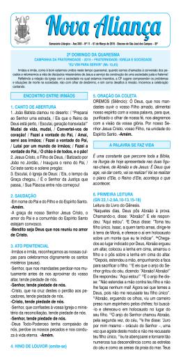 01/03/2015 - Diocese de São José dos Campos