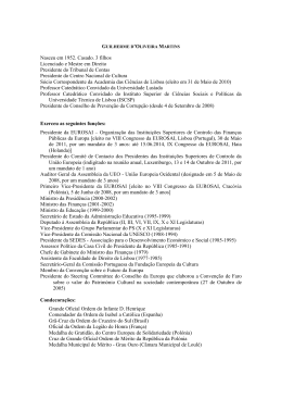 GUILHERME D`OLIVEIRA MARTINS - Instituto de Estudos Políticos