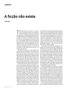 A ficção não existe - Revista Pesquisa FAPESP
