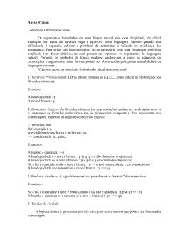 Anexo 4ª aula: Conectivos Interproposicionais Os