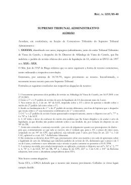Acórdão STA de 17/05/06, proferido no âmbito do Recurso n.º 1215