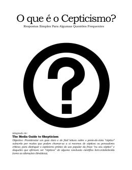 O que é o Cepticismo?