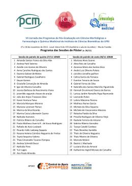 Programa das Sessões de Pôster (v. 26/11) - ICB