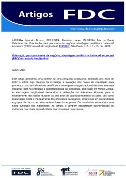 OLIVEIRA, Marcos Paulo Valadares de. Orientação para processos