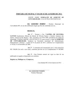 VALÉRIA DE OLIVEIRA SANTOS, nomeação