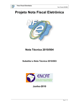Nota Técnica 2010.004 - Portal da Nota Fiscal Eletrônica