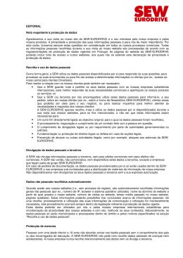 Editorial  - SEW