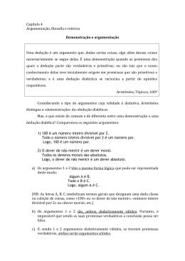 José António Pereira - Demonstração e argumentação