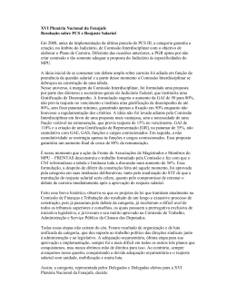 XVI Plenária Nacional da Fenajufe Resolução sobre - SINDJUF-PB