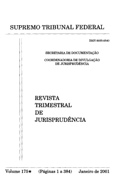 supremo tribunal federal revista trimestral de jurisprudencia
