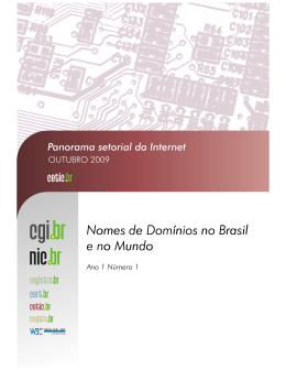 Nomes de Domínios no Brasil e no Mundo