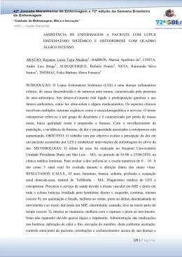 ASSISTÊNCIA DE ENFERMAGEM A PACIENTE COM LÚPUS