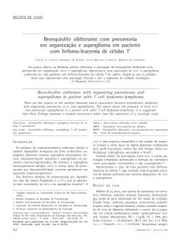 Bronquiolite obliterante com pneumonia em organização e