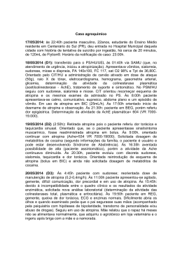 Caso agroquímico - Toxicologia Clínica
