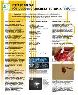 Litíase Biliar Pós-Duodenopancretatectomia