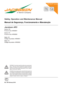 Safety, Operation and Maintenance Manual Manual de