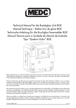 Technical Manual for the Breakglass Unit BGE