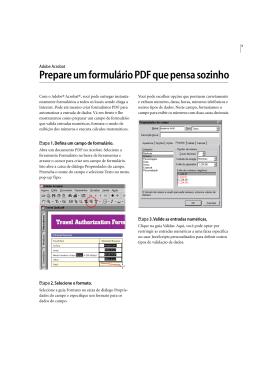 Prepare um formulário PDF que pensa sozinho