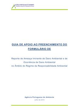 guia de preenchimento - Agência Portuguesa do Ambiente