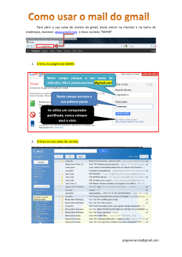 Separadores do Gmail