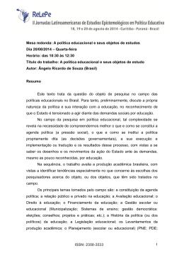 resumo - II Jornadas Latinoamericanas de Estudios