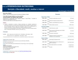 Programa 2012 Epidemiologia Nutricional