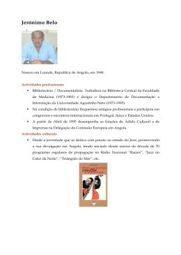 Jerónimo Belo-Autor Angolano