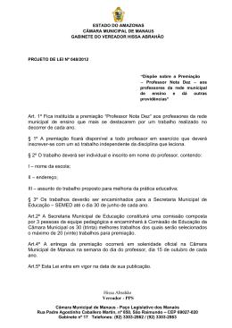 48/12 - Câmara Municipal de Manaus