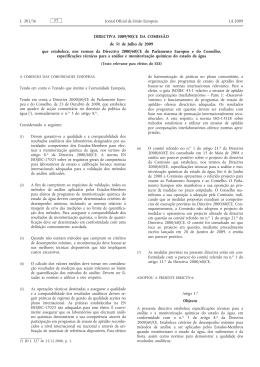 Directiva 2009/90/CE da Comissão, de 31 de Julho de 2009, que