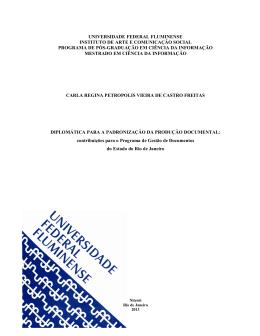 contribuições para o Programa de Gestão de Documentos do