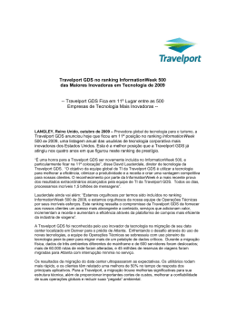 Travelport GDS no ranking InformationWeek 500 das Maiores