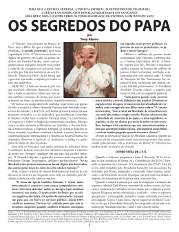 OS SEGREDOS DO PAPA - Tony Alamo Christian Ministries