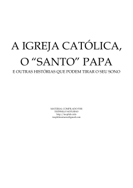 Apostila sobre Catolicismo