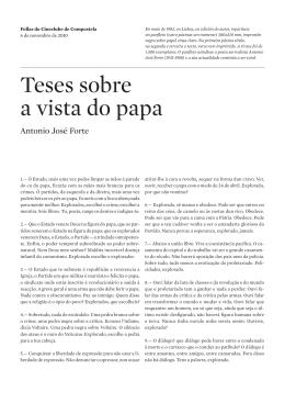 Teses sobre a vista do papa