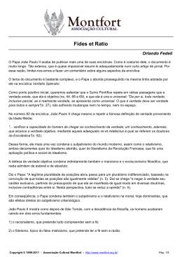 Fides et Ratio - Orlando Fedeli