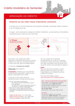 Crédito Imobiliário do Santander