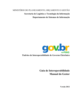 Guia de Interoperabilidade Manual do Gestor
