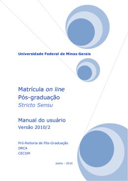Manual do Usuário - minhaUFMG - Universidade Federal de Minas