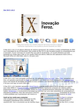 Mac OS X v10.2 O Mac OS X v10.2 é um gênero diferente de