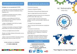 OS NOSSOS SERVIÇOS - Confederação Empresarial da CPLP