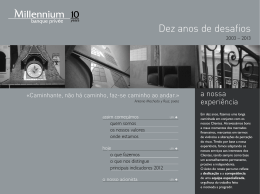 Dez anos de desafios - Millennium Banque Privée