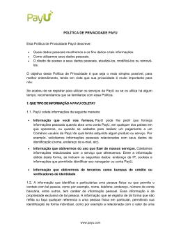 Política de Privacidade PayU