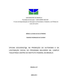 OFICINA SOCIODIGIT@L NA PROMOÇÃO DA AUTONOMIA