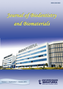 Anais da IV Semana Odontológica - Journal of Biodentistry and