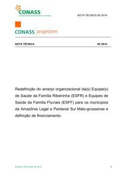 Redefinição do arranjo organizacional da(s) Equipe(s) de