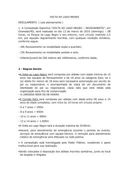 VOLTA AO LAGO NEGRO REGULAMENTO ( Leia