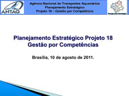 Planejamento Estratégico Projeto 18 Gestão por