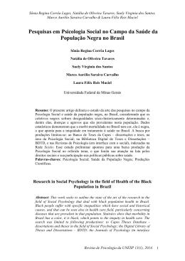 Pesquisas em Psicologia Social no Campo da Saúde da